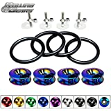 Rolling Gears JDM Quick Release Fasteners Front Rear Bumpers Trunk Hatch Lid Kit (Neo Chrome)