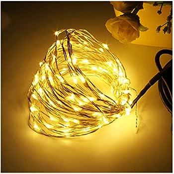Led string lightswilazb waterproof decorative lights for bedroom patio garden gate yard parties wedding 33ft warm white 5v usb