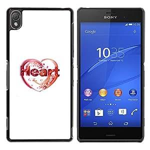 EJOY---Cubierta de la caja de protección la piel dura para el / Sony Xperia Z3 / --Amor de corazón