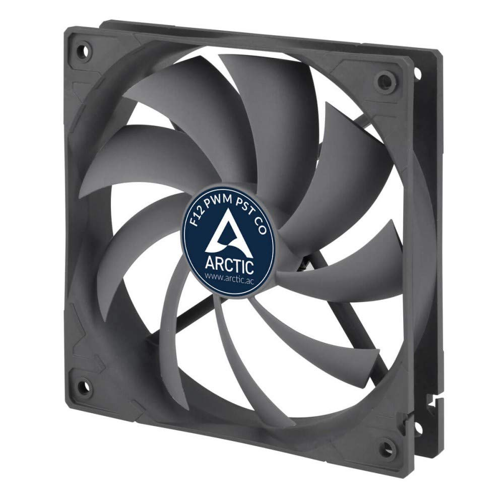 ARCTIC F12 PWM PST CO - 120mm Dual Ball Bearing Low Noise PWM Standard Case Fan with PST Feature - Ideal for Systems Running 24/7