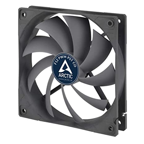 ARCTIC F12 PWM PST CO - 120 mm PWM PST Case Fan for Continuous Operation |  Cooler with PST-Port (PWM Sharing Technology) and Dual Ball Bearing |
