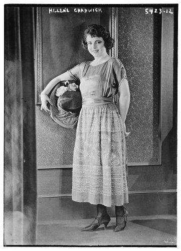 Photo: Helene Chadwick,actress,hats,flowers,dresses,women,clothing,Bain News (Chadwicks Womens Dress)