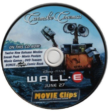 Movie Clips Entertainment   Savings Cd Rom Featuring Wall E  June  2008