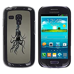 TopCaseStore / la caja del caucho duro de la cubierta de protección de la piel - Goth Punk Octopus Gasmask - Samsung Galaxy S3 MINI NOT REGULAR! I8190 I8190N
