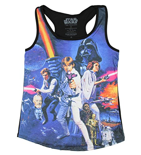 [Star Wars Her Universe New Hope Girls Tank Top (Small)] (Star Wars Leia Sexy)