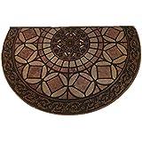 Ustide Durable Half Moon Rug Indoor Out Doormat Waterproof Floor Mat Non Slip Bath Mat Rug for Entryway 1.90 ft...