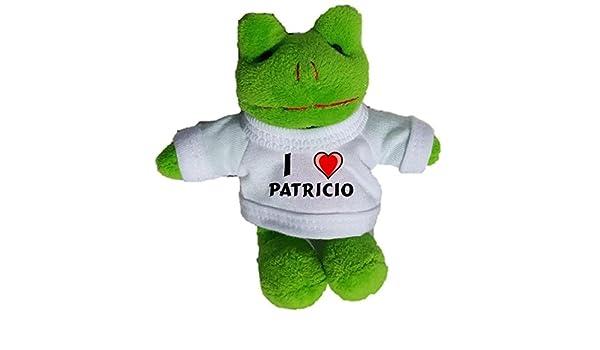 Rana de peluche (llavero) con Amo Patricio en la camiseta ...