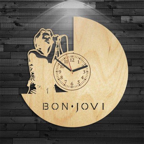 Bon Jovi Wood Clock, Wall Clock Vintage, Rock Music Gift For Boy, Wall Clock Modern, It's My Life Song Clock, Gift For Woman, Music Birthday Gift, Gift For Men, Bon Jovi Wooden Clock