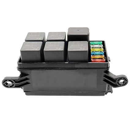 51vuJO7G3vL._SX425_ amazon com unihappy universal 12v car marine 6 way relay 6 slot