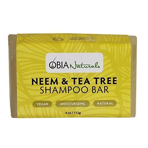 OBIA Naturals Shampoo Bar Neem & Tea Tree Cleansing Wash, 4 (Neem Bar)