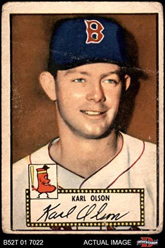 1952 Topps # 72 Karl Olson Boston Red Sox (Baseball Card) Dean