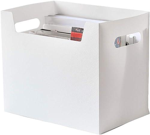 Archivadores con espiral Gabinete de archivo de escritorio caja de almacenamiento de escritorio grande, cartón, caja de acabado de oficina, libro de estudiantes, peso blanco, 270 g, cesta Archivadores: Amazon.es: Hogar