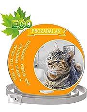 PROZADALAN Collare Antipulci per Gatti Impermeabile, Gatto Antipulci Collare Pulci e Zecche Collare, 8 Mesi di Efficacia Protezione Pettorale in Gomma Repellente