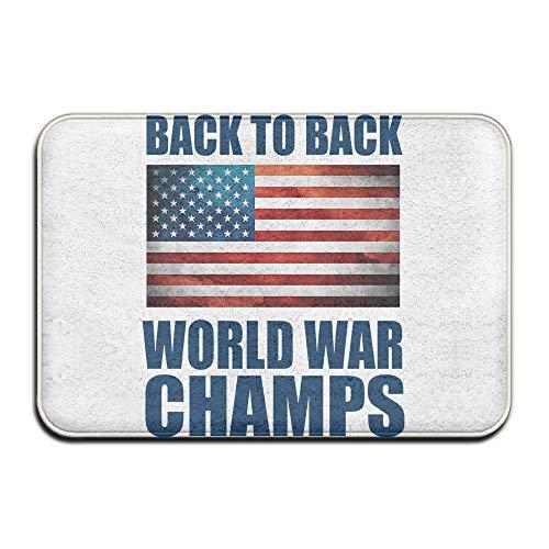 Back To Back World War Champs Welcome Doormat Front Door Mat