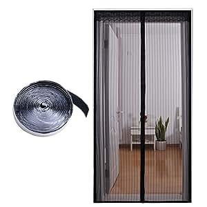 Mosquitera magn tica para puertas 90 210 cm cortina de for Mosquitera magnetica puerta
