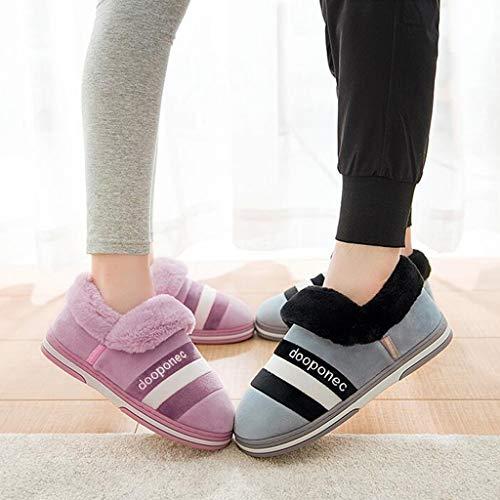 Épais 42 dérapant Chaussures Intérieur Anti Pantoufles Sac 2 Taille Fond La Couple De 1 Avec Yixin couleur Cn42 Coton 43 Hiver fit41 Maison q1PnFp8gw