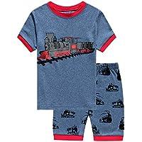 Si pijamas excavadora Little Boys 'Shorts pijamas ropa de 100% algodón)