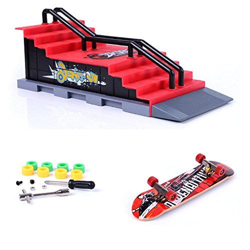 Mini Skate Park Ramp Parts for Tech Deck Fingerboard Finger Skateboard Ultimate Parks Ramp #F