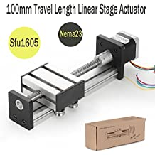 100mm Travel Length Linear Stage Actuator DIY CNC Router Parts X Y Z Linear Rail Guide Sfu1605 Nema23 Stepper Motor By Beauty Star