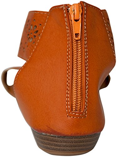 Womens 81001 Brown Roman Sandals Flats Perforated Gladiator RvqapR