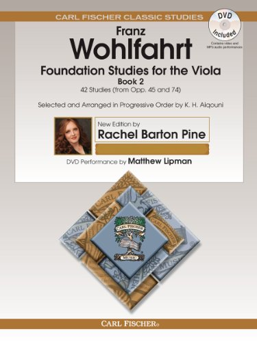 (O2660X - Foundation Studies for the Viola - Book 2 - 42 Studies (from Opp. 45 and 74) - Book & DVD)