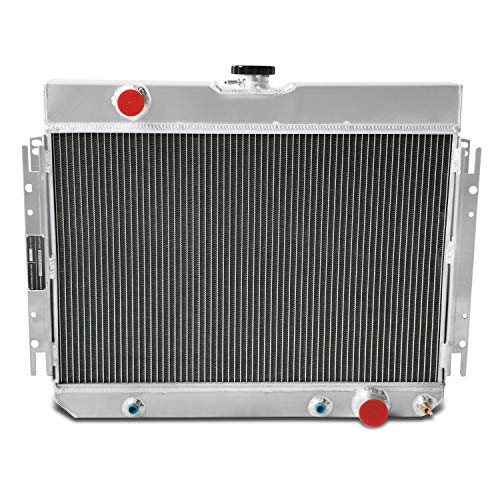 CoolingCare 1963-1968 Many Chevy Models Aluminum Radiator, 4 Row Core Radiator for Chevelle, Impala, Bel Air, Biscayne, Caprice, El Camino