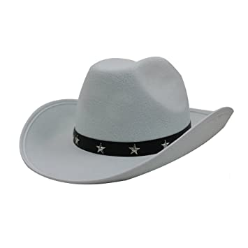 6 X WHITE COWBOY STAR STUDDED HAT FANCY DRESS ACCESSORY COWGIRL STETSON HAT  TRAMPAS WILD WEST BULK    PLEASE BE AWARE COWBOY HATS MAY HAVE MARKS ON ... 1aec868a557