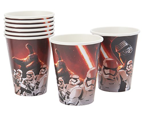 Amscan 8 Count Star Wars Episode Vll Paper Cups, 9 oz, Multicolor