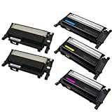 Shop 247 Compatible toner cartridges Replacement for 5PK CLT-406s SET CLP-365 Toner Cartridges compatible for K406S/C406S/M406S/Y406S 406S CLP-360 CLP-365W CLP-366 (2 Black 1 Cyan 1 Yellow 1 Magenta)