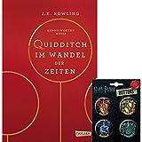 Harry Potter Hogwarts-Schulbuch: Quidditch im Wandel der Zeiten (Hardcover) + 1 Hogwarts Button