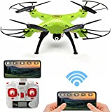 REALACC X5HW WIFI FPV Quadcopter with HD Camera Live Video, Headless, Altitude Hold Mode Remote Control 2.4G 4CH 6Axis RC Toy Drone RTF Mode 2 for Christmas Gift