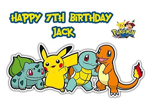 Pokemon Pikachu A4 papel de azúcar glaseado decoración para ...