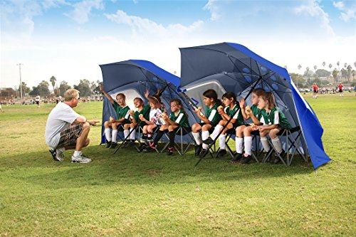 Sport-Brella Portable All-Weather and Sun Umbrella. 8-Foot Canopy. Blue.