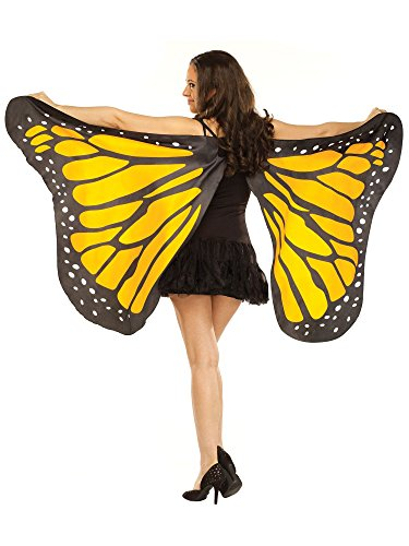 Fairie Wings (Fun World Women's Blue Fabric Butterfly Wings Accessory, -blue, Standard)