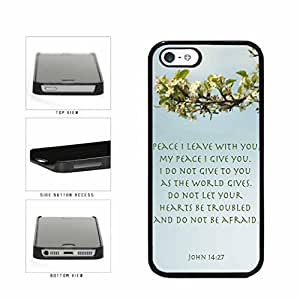 Peace John 14-27 Bible Verse Plastic Phone Case Back Cover Apple iPhone 5 5s includes BleuReign(TM) Cloth and Warranty Label by Maris's Diary