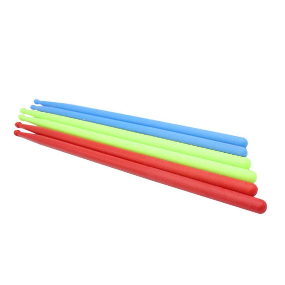 1 par de baquetas de nailon antideslizante 5 A para bater/ía duraderas para bater/ía ligeras azul geshiglobal