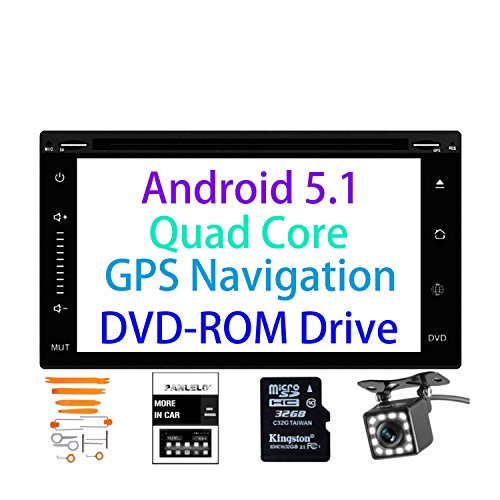 Panlelo PA-1062DVD, 6.2 Inch 2 Din DVD Head Unit Android 5.1 GPS Navigation Car Stereo Audio AM/FM/RDS Radio 1080P Video Player