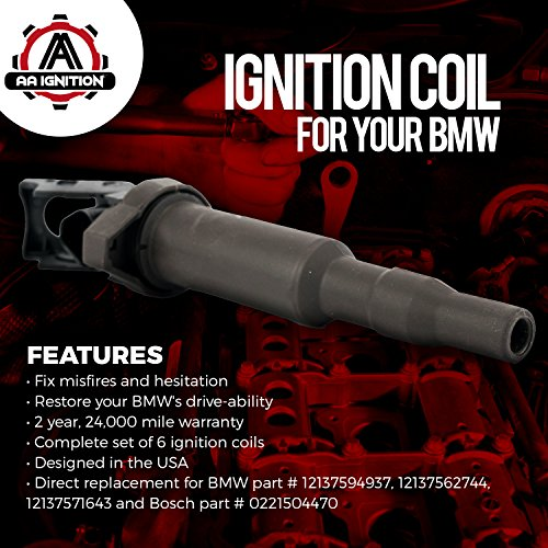 Ignition Coil Set of 6 - BMW Vehicles Replaces Bosch
