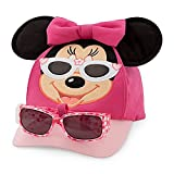 Disney Parks Minnie Mouse Baseball Hat Cap and Sunglasses Toddler Girls