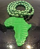African pride Limited edition Hand made of resin sculpture Green AFRICA pendent and beads necklace , African pride pendant / necklace