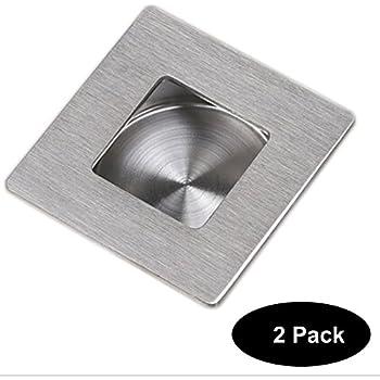 2 Pcs Square Recessed Sliding And Pocket Door Handles