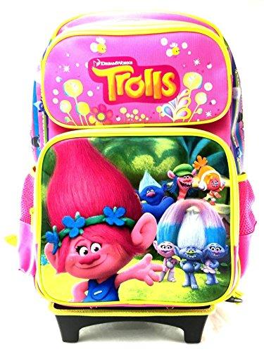 Dreamworks Trolls Large Roller Backpack Family