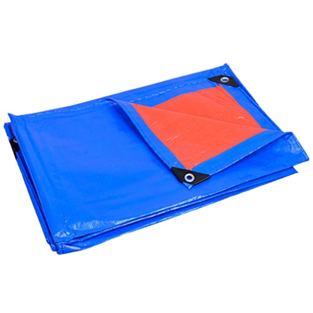 ターポリン アイレットが付いている厚いPEの防水防水シート、雨止めの防水シートシートの日焼け止め日除け - 160g / mの² (Size : 6m x 9m) B07SMN52GF  6m x 9m