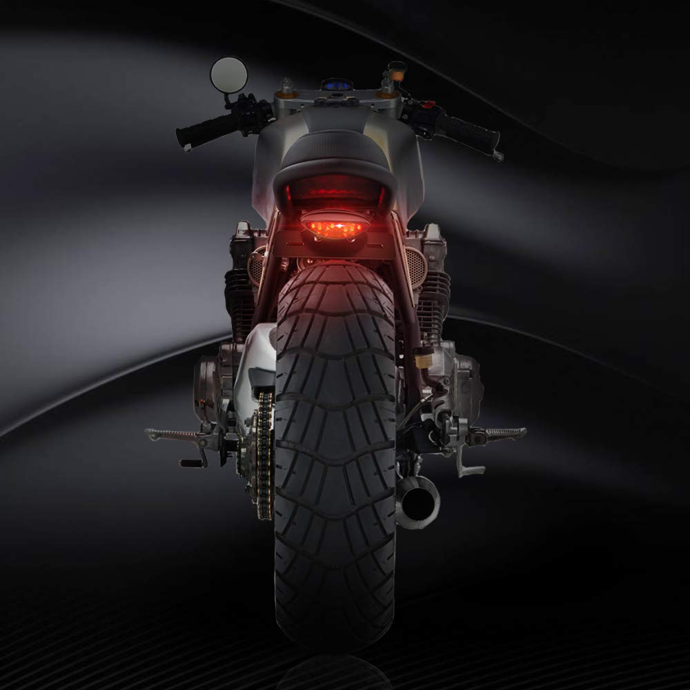 Retro Luz de la Placa de Licencia,Universales Luz Trasera de Freno LED para Motocicleta Scooter Quad Cruiser Off Road Aolead Luz de Freno Fuces Trasero Led Moto