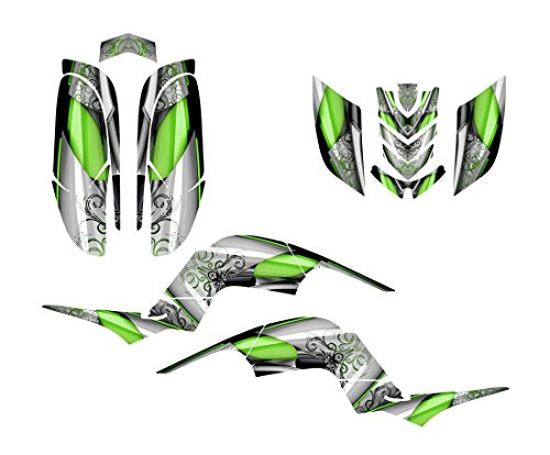 Yamaha Raptor 660 Graphics Decal Kit by Allmotorgraphics NO8800 Green Yamaha Raptor Ebay