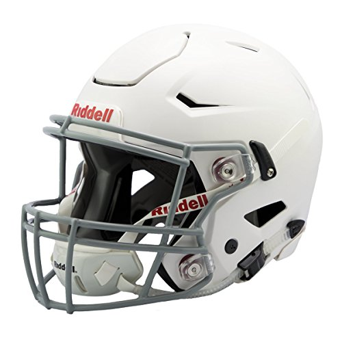 Riddell Revolution Helmets - Riddell Speedflex Youth Helmet, White/Gray, Large