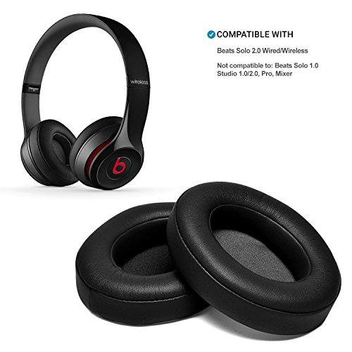 Black Replacement Earpads, AGPtEK 2 Pieces Foam Ear Pad Cushion for Beat Solo 2.0 Wireless Headphone