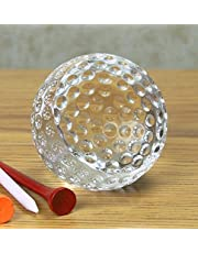 """BANBERRY DESIGNS Golf Ball Trophy – Crystal Golf Balls Paperweight – 2 ½"""" Diam. – Gift Boxed- Gifts for Dad - Birthday Gifts for Dad"""