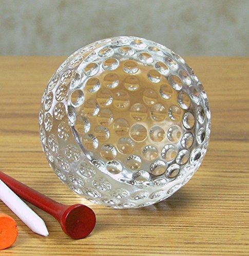 (BANBERRY DESIGNS Golf Ball Trophy - Crystal Golf Balls Paperweight - 2 ½
