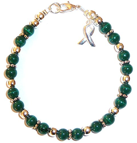 Hidden Hollow Beads Cancer Awareness Bracelet, For Showing Support or Fundraising Campaign, Adult Size with Extension, 6mm Cat